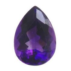 2.87 ct Pear Shape Amethyst Deep Rich Purple -Gold Crane & Co.