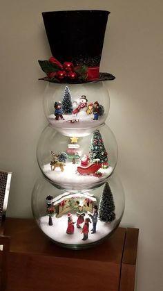 f61d0c2de0 Christmas Fun, Snowman Christmas Decorations, Christmas Centerpieces,  Christmas Villages, Handmade Christmas,