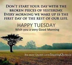 Happy Tuesday Morning Quotes, Wishes, Message Pictures