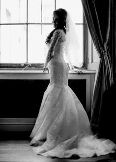 Bride dressed in white