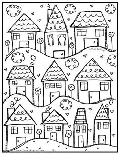 Coloring Club Library — From the Pond House Colouring Pages, Adult Coloring Pages, Coloring Sheets, Coloring Books, Free Coloring, House Quilts, Color Club, Free Printable Coloring Pages, Valentine Day Cards