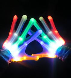 LED Glow Skeleton Rave Gloves Are you ready to show off your tutting skills or want to be the brightest hand in the crowd? Then we have the perfect item for you and they are our LED Skeleton Gloves. These awesome gloves create the most intriguing illusion for all those peepers staring at your hands.