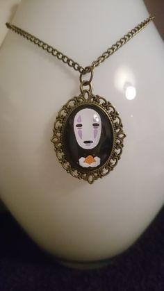 No Face / Kaonashi necklace, Spirited Away Studo Ghibli Halloween by TheForbiddenMarket on Etsy
