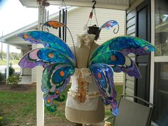 Fuller Color Fairy Wings Wedding Halloween by WhimsyEverlasting, $210.00
