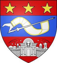 Sous la 3ème République, les abeilles (symbole impérial) seront remplacées par des étoiles. En 1901, le maire de Lille, Gustave Delory, rétablira finalement le blason initial.