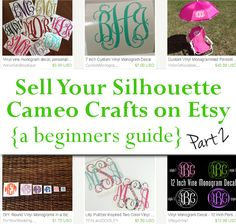 Selling Your Silhouette Cameo Crafts on Etsy - Part Two - by cuttingforbusiness.com