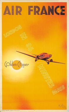 Air France - Golden Clipper - 1933 - (Albert Solon) -