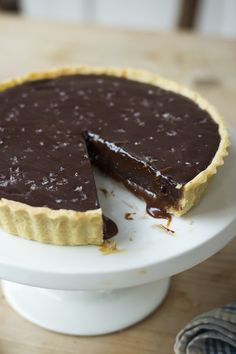 Salted Caramel Chocolate Tart | DonalSkehan.com, The perfect end to any special meal!