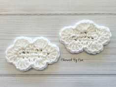 These cute little clouds are perfect for embellishing any rainbow colored item you can think up.