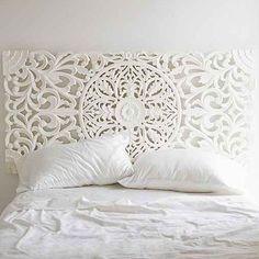 Sienna Headboard- White Full/queen