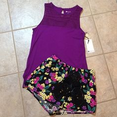 Stylus Crochet Yoke Tank Size S New with tags! Cotton and modal blend tank with polyester crochet detailing at chest and keyhole opening in back. Front hem is slightly rounded and back hem is cut straight. No trades, outside sales, and all lowball offers will be ignored. Reasonable offers will be considered. Stylus Tops Tank Tops