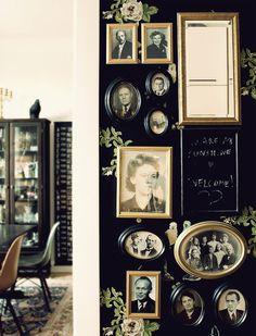 Family photos and fabulous wallpaper