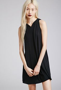 Hooded Trapeze Dress | FOREVER21 - 2000052955  pair with gladiator sandals