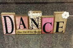 Fast Shipping Custom Dance Gift for Dance Friend, Dance Teacher, Dancer Block… Dance Team Gifts, Dance Teacher Gifts, Cute Gifts For Friends, Sister Gifts, Dance Recital, Dance Moms, Dance Decorations, Locker Decorations, Dance Crafts