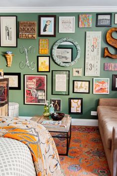 Bohemian-esque gallery wall #hometour #theeverygirl