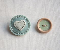Small round felt brooch in pastel colors by suyika on Etsy