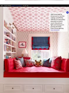 Nick Olsen. Ceiling wallpaper by Hinson