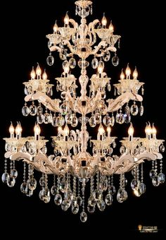 Chandeliers Art Decor Church Chandelier Lighting Large 3-layer Cognac Crystal Lamp 28-35 Pcs Vintage Hanging Lustre Villa Hotel Chandelier Choice Materials Ceiling Lights & Fans