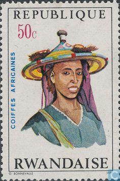 Postage Stamps - Rwanda - Headdresses
