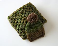 Hey, I found this really awesome Etsy listing at https://www.etsy.com/listing/212307893/ready-to-ship-moss-green-blanket-and-hat