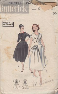 Vintage Butterick 8420 Evening Party Dress