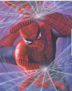 Spiderman by Alex Ross 🇺🇲 Amazing Spiderman, Spiderman Art, Marvel Comics Art, Marvel Heroes, Marvel Avengers, Ms Marvel, Captain Marvel, Comic Book Artists, Comic Artist