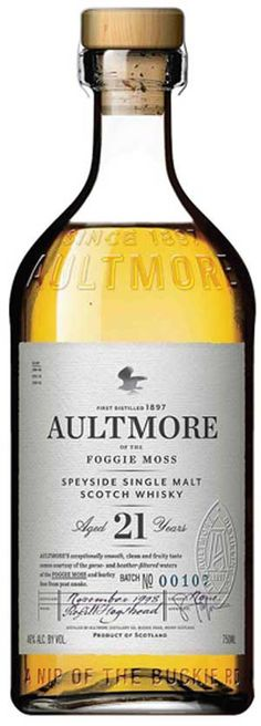 Aultmore 21 year old scotch whisky