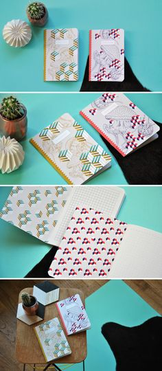 Méduses et motifs géométriques, voici les 2 carnets de la collection Bob ! • 1…