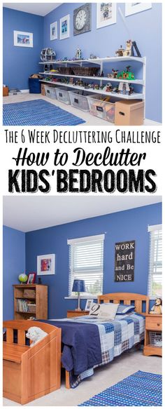 How to Declutter Kids Rooms.  Lots of tips, ideas, and a free printable to get you started!