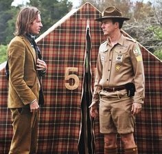 """Wes Anderson and Edward Norton filming """"Moonrise Kingdom"""""""