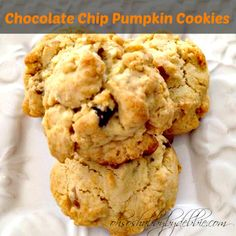 Print Pumpkin Chocolate Chip Cookies Prep Time:  #preptime# Cook time:  #cooktime# Total time:  #totaltime# Serves:  Serving size:  Calories:  Fat:  Ingredients I...
