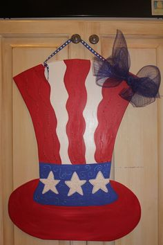 wood door hangers | Wooden Uncle Sam Hat Door Hanger by ASouthernCreation on Etsy