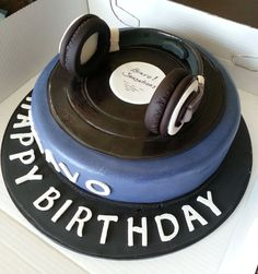 Fantastic 9 Best Dj Birthday Cake Ideas Images Dj Cake Music Cakes Cake Birthday Cards Printable Trancafe Filternl