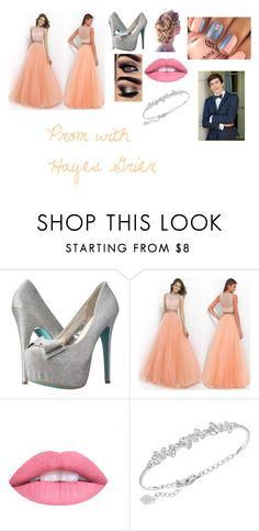 """""""Prom with Hayes Grier"""" by dancergirlpaige on Polyvore featuring Betsey Johnson and Swarovski"""