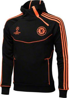 04e3954d2718 Chelsea FC Black adidas Soccer UCL Hooded Sweatshirt
