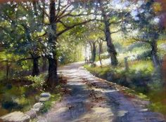 The road tells me to go there...soft pastel is my favorite art medium.