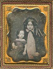 *ROBERT E. LEE JR. & MOTHER MARY ANNA RANDOLPH CUSTIS, 1845.