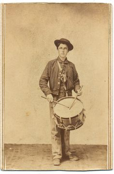 Union drummer boy poses with his drum. The use of drums was not just to keep time while on the march. Rather these instruments were part of the communications. In an age before field telephones and radios, music was the best way to transmit orders to large groups of men over the noise of battle. The choice of drums, as well as bugles and fifes, was not random. Rather, the deep beat of the drum, the clear brass ring of the bugle and the high shrill note of the fife could cut through the ...