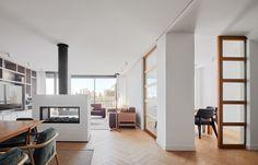 Pocket doors. JBeautiful Duplex in Barcelona Modern Home in Barcelona, Catalunya,… on Dwell