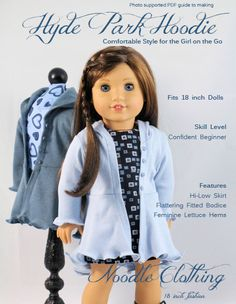 American Girl Clothes Pattern The Hyde Park by NoodleClothing