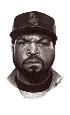 Ice Cube biro portrait by ~Craig-Stannard on deviantART