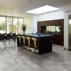 Style Selections Cityside Gray Porcelain Floor and Wall Tile (Common: x Actual: x Ceramic Floor Tiles, Porcelain Floor, Wall Tiles, Tile Floor, Grey Tiles, Outdoor Flooring, Home Kitchens, Home Remodeling, Kitchen Remodel