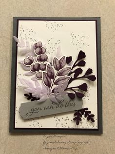 Thanks for the inspiration Stamping  Creations with Marilyn. Stampin Up Catalog, Stamping Up Cards, Card Tags, Cool Cards, Flower Cards, Creative Cards, Greeting Cards Handmade, Ferns, Homemade Cards