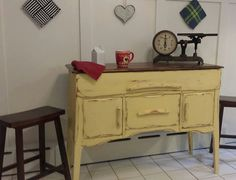 Primitive Kitchen Island Rustic Buffet by RonisRescuedRelics