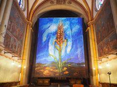 Die Online-Druckerei Dispex aus Löhne hat für da Bonner Münster ein 8.00 m x 7.50 m großes Fastentuch produziert. #bonn #church #art #print #kirche #gott #religion