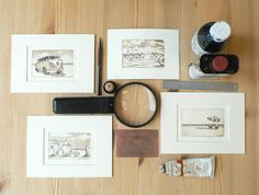 original etching and aquatint of a VW camper van by atelier28