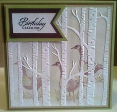 Stampin Up Woodland Textured Textured Impressions Embossing Folder ~BNIP