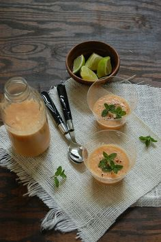 Chilled melon summer soup recipe