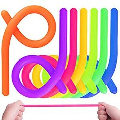 Amazon.com: KeNeer 7Pack Stretchy String Fidget Sensory Toys - Relieve Stress, and Increase Patience - Build Resistance Squeeze, Pull - Good for kids with ADD, ADHD or Autism, and Adults to Strengthen Arms: Toys & Games