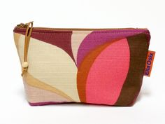 Handmade vintage fabric zippered pouch.